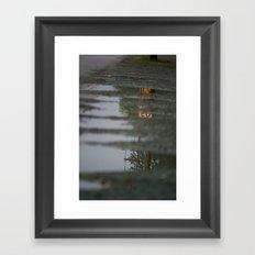 Reflections of speeding Framed Art Print