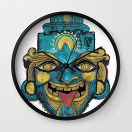 Morpho Mask Wall Clock