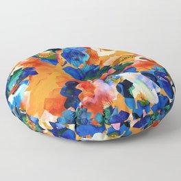 Vibrant Flower Garden Floor Pillow