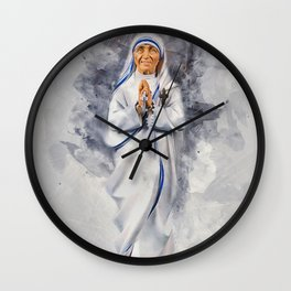 Mother Teresa Wall Clock