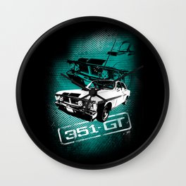 Ford Falcon XY GTHO Phase III (Grunge) Wall Clock