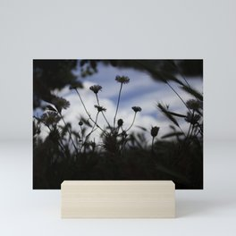 Silohouette of Flowers Mini Art Print