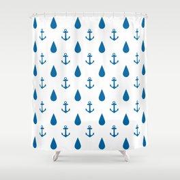 Raining Anchors Shower Curtain