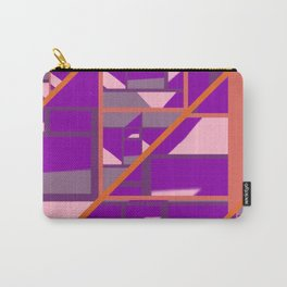 Outspoken Orange with patterns of pink, purple and mauve Carry-All Pouch