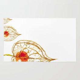 Thanksgiving Physalis Abstract Happy Autumn Season Rug