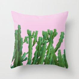 Pink Italian Cactus Throw Pillow