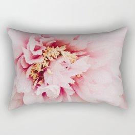 Pink Peonies III Rectangular Pillow