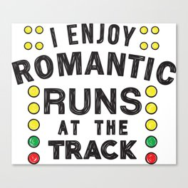Romantic runs at the track Canvas Print
