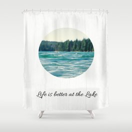 Life on the Lake Shower Curtain