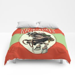 """Here Comes Krampus"" Comforters"