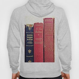 antique books by Dumas and Dickens Hoody