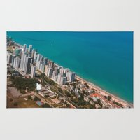 brazil Area & Throw Rugs featuring Brazil Beach by Mauricio Santana
