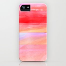 Seascape in Red, Yellow and Pink iPhone Case