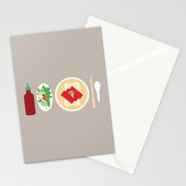 Sriracha Meal Stationery Cards