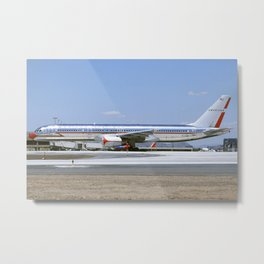 """American Airlines 757-200 """"Retro Jet"""" Livery Metal Print"""