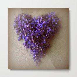 violet love Metal Print