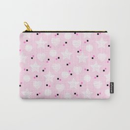 Baby pink pattern with stars and hearts Carry-All Pouch