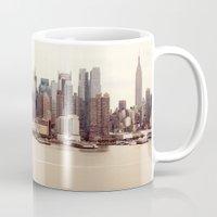 nyc Mugs featuring NYC by Enkel Dika