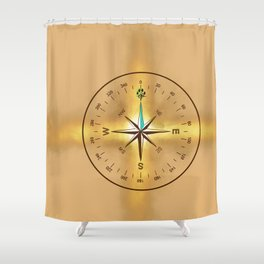Source Compass Shower Curtain
