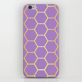 Golden Honeycomb Geometric Pattern iPhone Skin