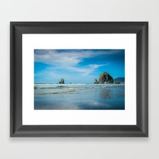 Picturesque Oregon Coastline Framed Art Print