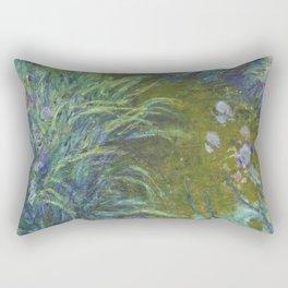 Irises by Claude Monet Rectangular Pillow