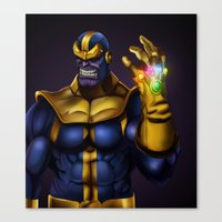 thanos Canvas Prints featuring Thanos - Marvel Villain Series by Eric Vasquez