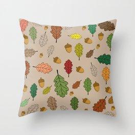 Oak pattern Throw Pillow