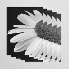 Half Daisy in Black and White Wrapping Paper