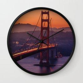 Golden_Gate_Bridge_20170801_by_JAMFoto Wall Clock