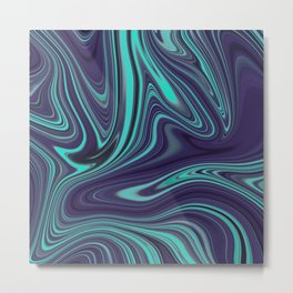 Marble Abstract Art Pattern 004 Metal Print