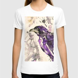 Watercolor Crow Sketch No.6A by Kathy Morton Stanion T-shirt