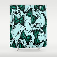 poison ivy Shower Curtains featuring Poison Ivy by Mcbee Threads