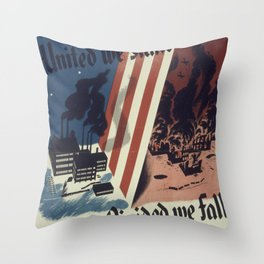 Vintage poster - United We Stand Throw Pillow