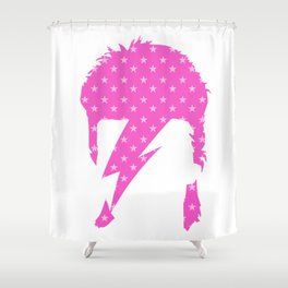 Rock art / pink star zi Shower Curtain