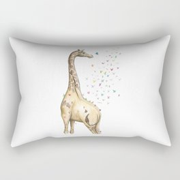 Young Giraffe with Butterflies Rectangular Pillow