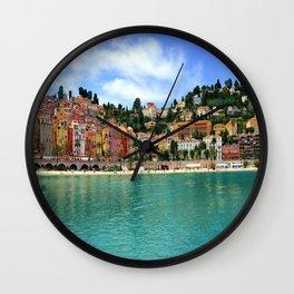 Menton Harbour View Wall Clock