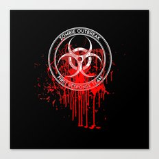 Zombie Outbreak First Response Team Canvas Print