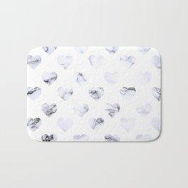 Marble Hearts Bath Mat