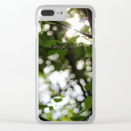 Early Morning Forest Hike Clear iPhone Case