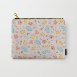 cute pattern with sleepy cats Carry-All Pouch