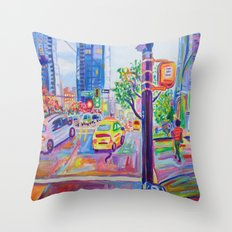 Wall Centre From Nelson And Burrard, Vancouver Throw Pillow