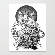 Satan cat Canvas Print
