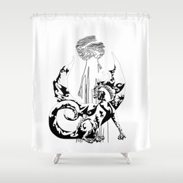 A Dragon from your Subconscious Mind Shower Curtain