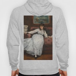 The Rest, portrait of Berthe Morisot by Edouard Manet Hoody