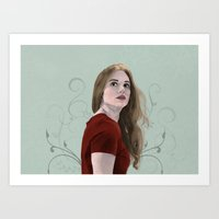 lydia martin Art Prints featuring Lydia Martin by mistyworks