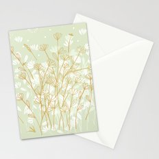 Coockie brown clover on green  Stationery Cards
