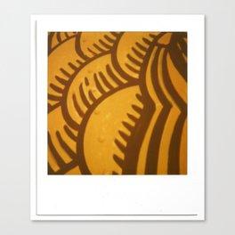Yellow Orange Print Canvas Print