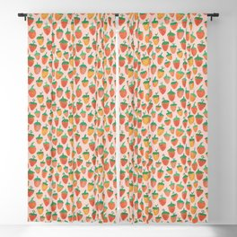 Painted Strawberries Blackout Curtain