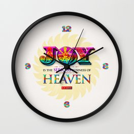 Serious Joy Wall Clock